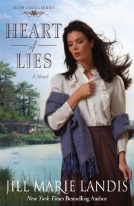 Heart of Lies, Jill Marie Landis, New Orleans, Bayou, Texas, Irish Angel Series, zondervan, christian novel, christian book, book review